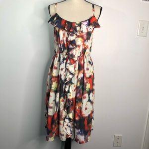 Lane Bryant  Dress Ruffled Front Size 14/16 NWT